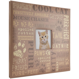 Foto album met insteekhoezen Cat expressions  12 x 12 inch