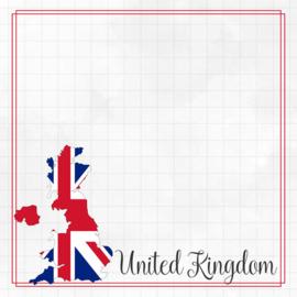 United Kingdom Adventure border - dubbelzijdig scrapbook papier