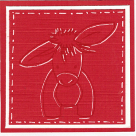 Dudley the Donkey dieren clear stempels