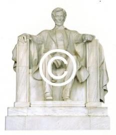Lincoln Memorial Washington - stans decoratie - 7x8.5 cm