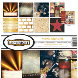 Scrapbook papier - Movie Night paperkit - 30.5 x 30.5 cm