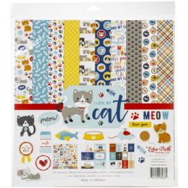 Scrapbook pakket I Love my Cat - collection kit - 30.5 x 30.5 cm