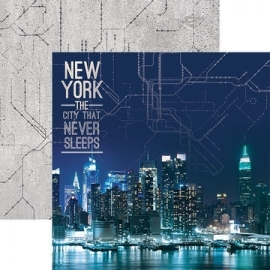 Scrapbook papier new york -  the city that never sleeps - 30.5 x 30.5 cm