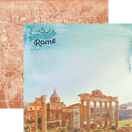 Rome Italy vakantie scrapbook papier