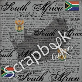 South Africa - scratchy papier - 30.5 x30.5 cm