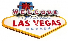 Las Vegas Sign- stans decoratie -10.5x6.5 cm