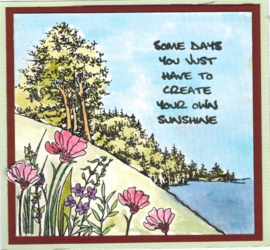 Countryside - A5 clear stempel set 15 x 20 cm