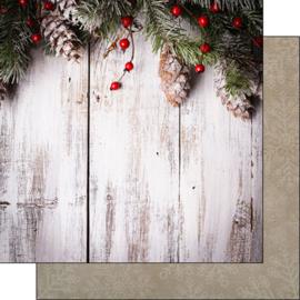 Rustic Christmas - dubbelzijdig scrapbookpapier - 30.5 x 30.5 cm