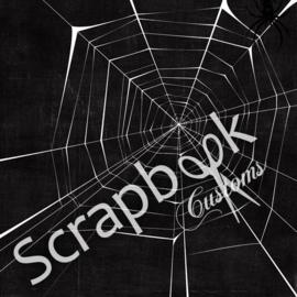 Spiderweb/spinnenweb papier voor scrapbooking 12 x 12 inch dubbelzijdig