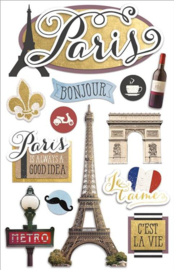 Paris thema 3d stickers