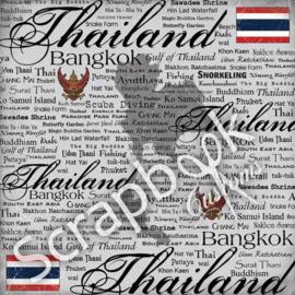 Thailand - Scratchy - scrapbooking papier - 12 x 12 inch