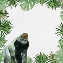 Gorillas - watercolor - 30.5x30.5 cm - dubbelzijdig scrapbookpapier