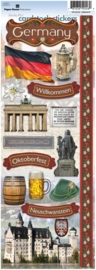 Germany - vakantie thema  scrapbook stickers - Paper House