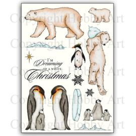 Kerst stempels  Pole's apart / IJsberen en pinquins - clear stamps