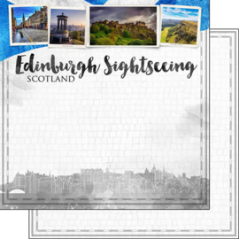 Edinburgh City Sights - dubbelzijdig scrapbook papier