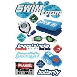 In zwembad baantjes trekken - 3D stickers