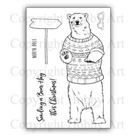 Clear stamps - Kerst - Bear Hug
