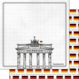Germany Adventure Border  - 30.5 x 30.5 cm