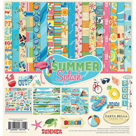 Scrapbook papier pakket summer splash 12 x12 inch (13-delig)
