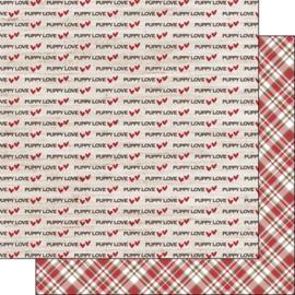 Puppy Love - dubbelzijdig 30.5x30.5 cm - scrapbookpapier