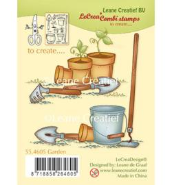 Garden tools / Tuingereedschappen - Thema clear stempels (12-delig)