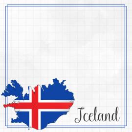 IJsland - Adventure Border scrapbook papier - 30.5 x 30.5 cm