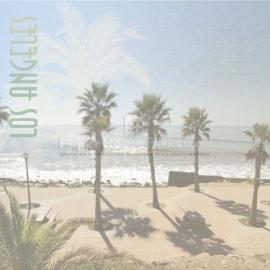 Los Angeles kust met palmbomen papier 30.5 x 30.5 cm