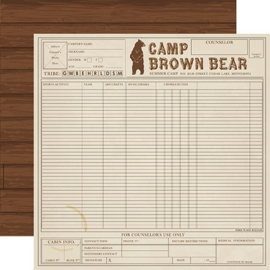 Scrappakket Summer Camp papier en karton pakket 30.5 x 30.5 centimeter