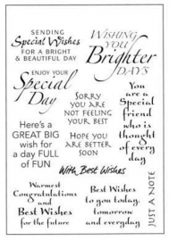 Sentiments / Speciale wensen - Clear Stamp set