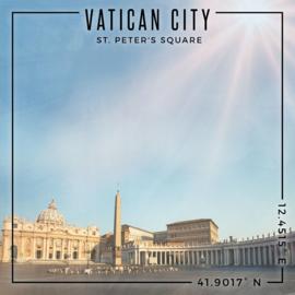 Rome - Vatican City / St. Peter's Square - scrapbook papier