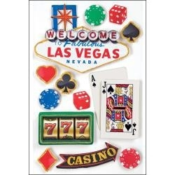 3D Las Vegas casino scrapbook Stickers
