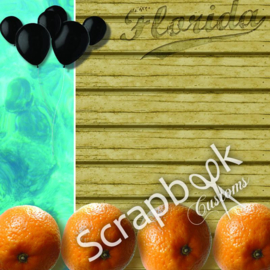 Thema Florida - Orange State - scrapbook papier 12x12 inch