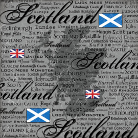 Scotland  - Scratchy 12 x 12 Papier Scrapbook Customs - World Collection