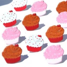 3 smaken Cupcakes hobby splitpennen 12 stuks