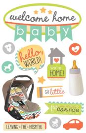 Welcome Home Baby  3D decoratie stickers