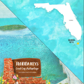 Florida Keys - dubbelzijdig - 12x12 Papier - scrapbook customs