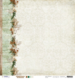 Woodland Winter - border links - papier 30.5x30.5 cm