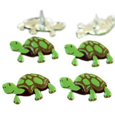Schildpad-  splitpen decoratie - zakje 12 stuks