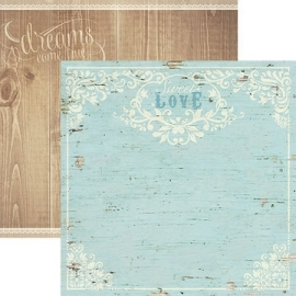 Sweet love dubbelzijdig papier 30.5 x 30.5 cm