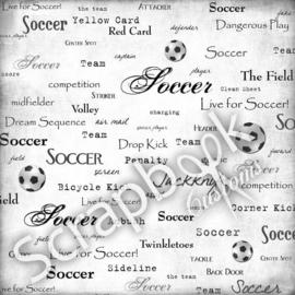 Soccer live for papier 30.5 x 30.5 cm