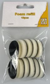 Reserve sponsjes voor de ronde Inkt Applicator