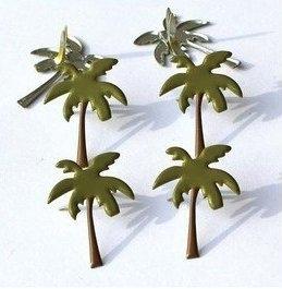 Palmbomen thema splitpennen 12 stuks