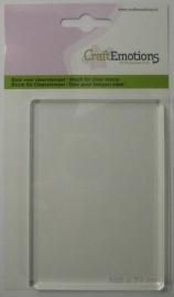 Craftemotions - acrylblok voor stempels - 10.5 x 7.4  x 0.8 cm