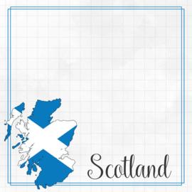 Scotland Adventure border - dubbelzijdig scrapbook papier