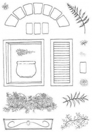 Window Set/ Venster-raam - clear stamps