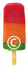 IJslollie 3-kleur - stans decoratie 3x9 cm