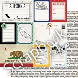California - DS Vintage Journal 12x12 Paper