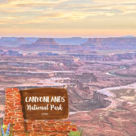 Canyonlands National Park / Utah - dubbelzijdig scrapbook papier 12x12 inch