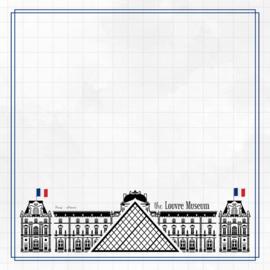 Louvre Museum Adventure  - dubbelzijdig scrapbook papier