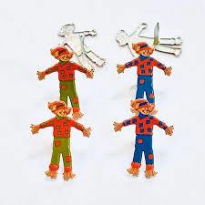 Vogelverschrikker -  splitpen decoratie - zakje 12 stuks